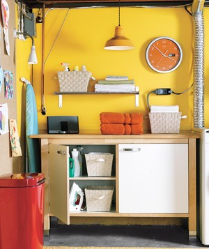 laundry room storage area
