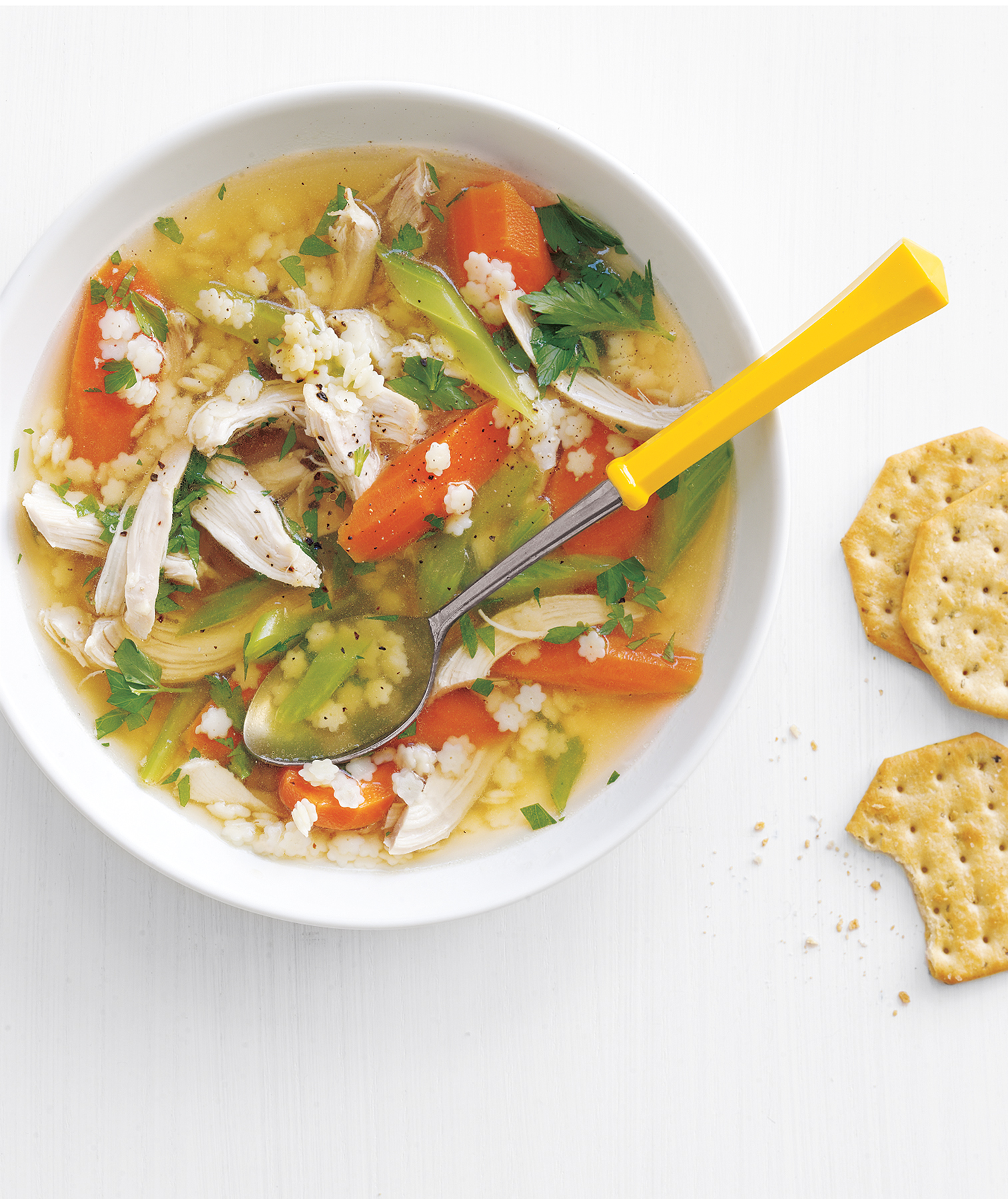 Slow-Cooker Chicken Soup Recipe with Pasta