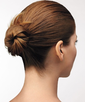 Woman with hair in a bun