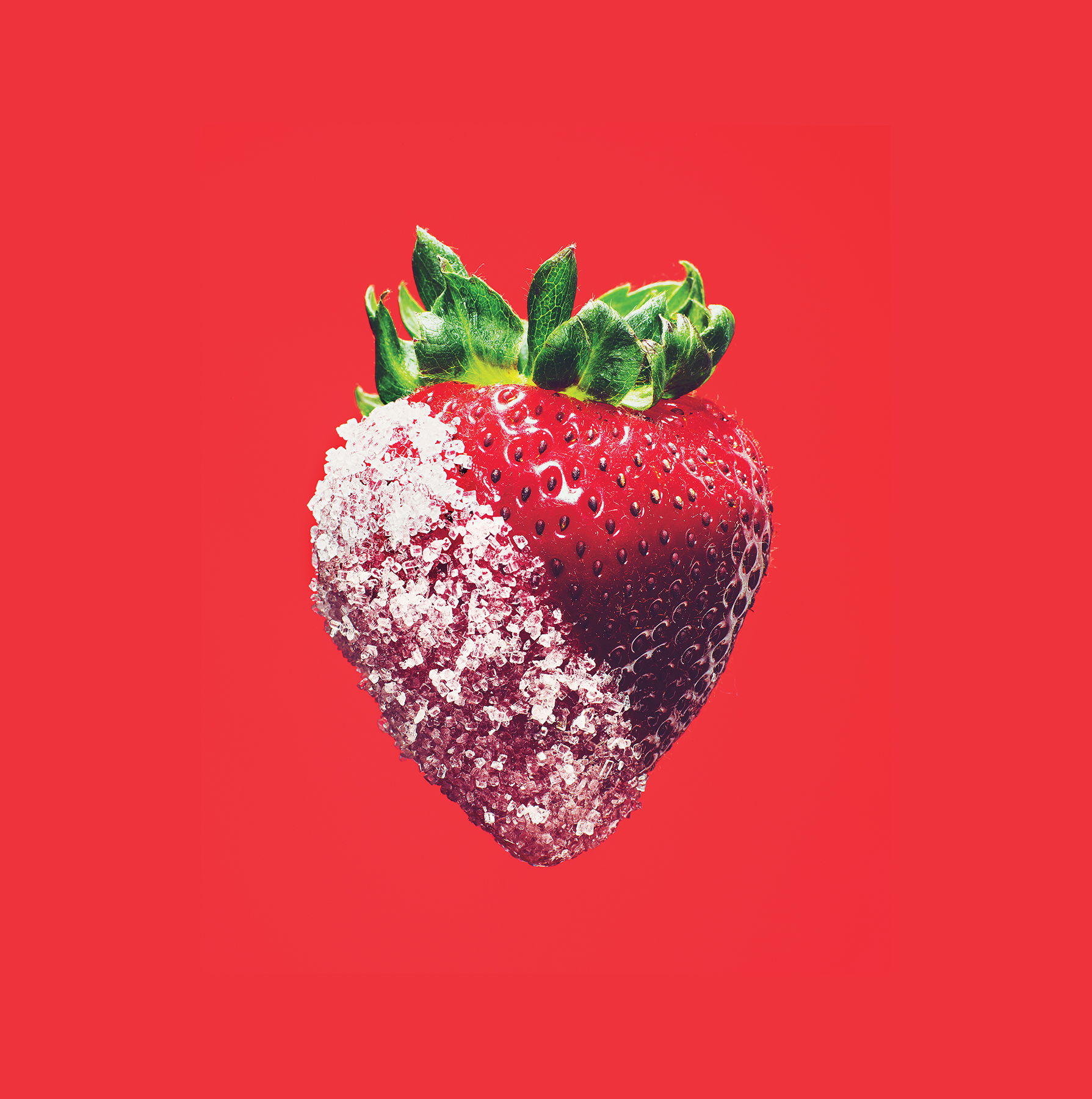 Strawberry with sugar