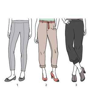 Cropped trousers and shoes