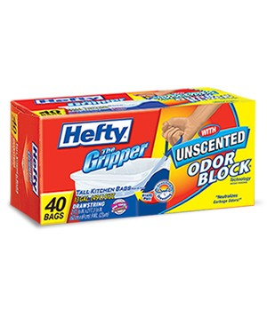 Hefty Gripper Trash Bags