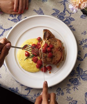 Roasted Pork Chops with Polenta