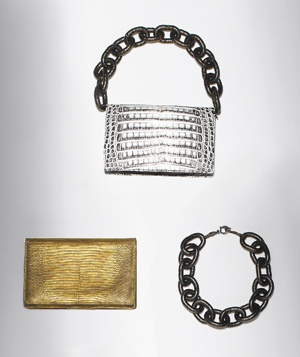 Clutch bag and necklace in one