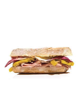 Ham and Pickled Tomato Sandwich