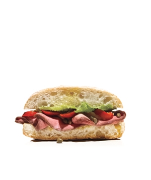 Roast Beef and Sweet Cherry Pepper Sandwich