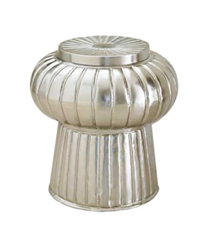 Moroccan Fluted Metal Stool