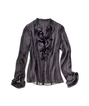 Anne Klein polyester-charmeuse shirt
