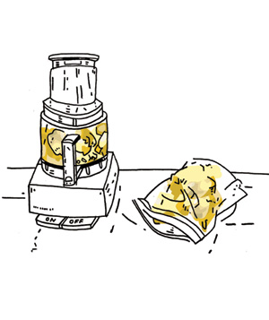 Illustration of homemade bread crumbs