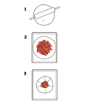 Illustration of how to make a galette