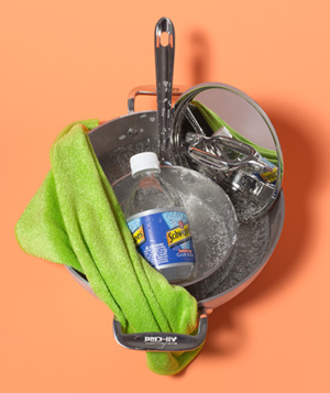 Club Soda as Stainless Steel Polisher