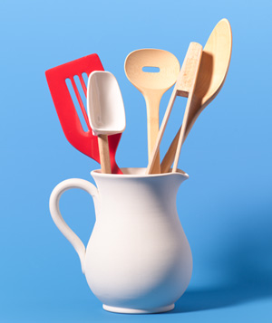 Pitcher as Kitchen Utensil Holder