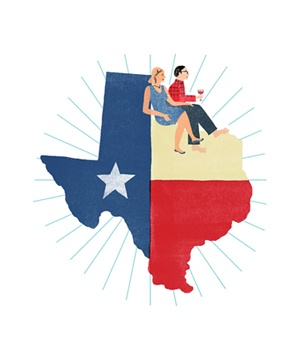 Texas with couples illo