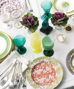 Vintage Mishmash table setting