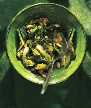 Sautéed Escarole With Leeks