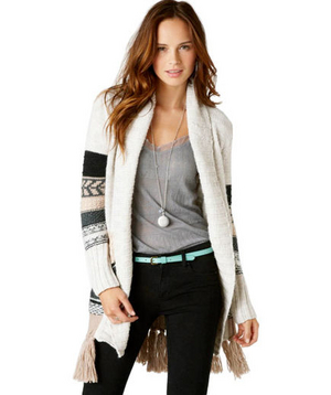 American Eagle Outfitters AE Fair Isle Sweater Coat