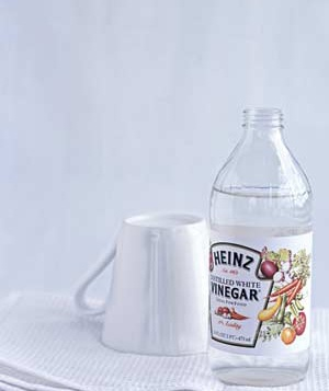 White Vinegar as Tag Remover