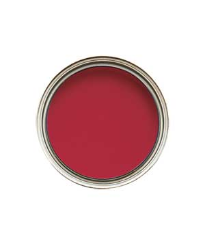 Ruby red paint