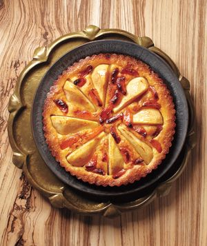 Pear and Apricot Tart - Landscape