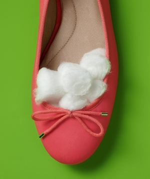 Cotton Balls as Shoe Resizer