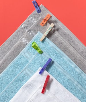 Clothespin as Towel Labels