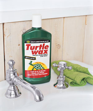 Car Wax as Sink Polish