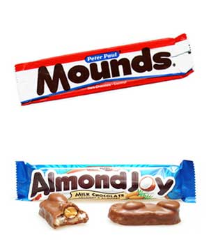 Almond Joy and Mounds