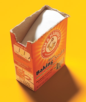 Open box of baking soda