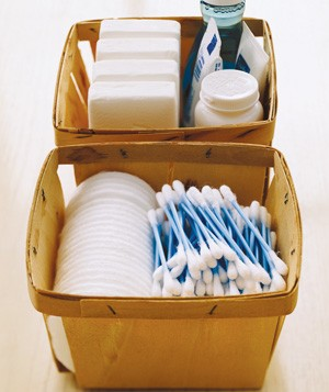 Berry Basket as Bathroom Storage