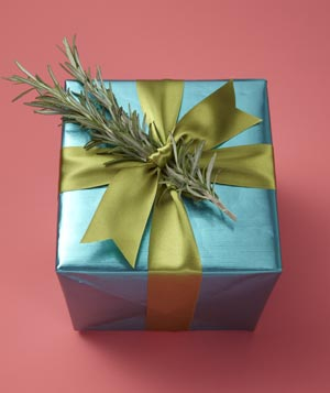 Branch as gift wrap