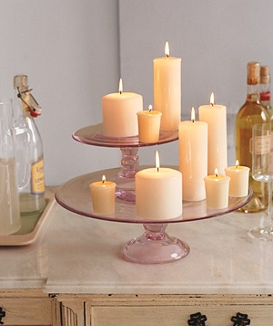 Cake Stand as Candle Holder