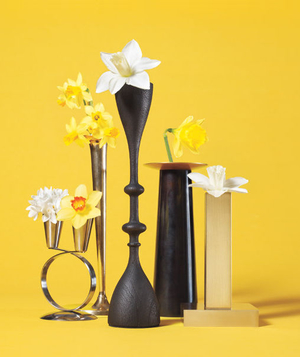 Candlestick as Bud Vase