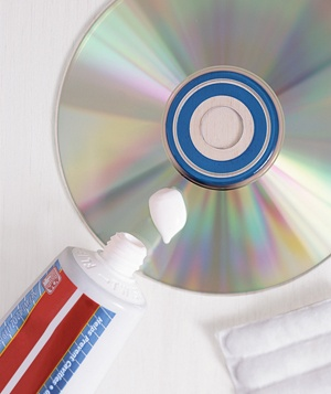 CD and toothpaste