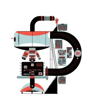 Credit card machine illo