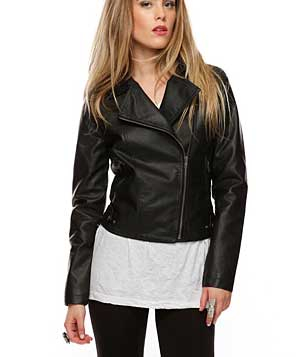 Fab Faux Leather Jacket by Forever 21
