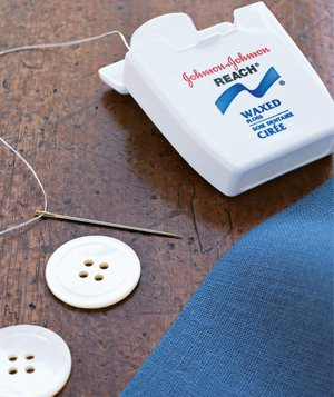 Floss used to sew on shirt button
