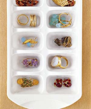 Ice-Cube Tray as Jewelry Storage