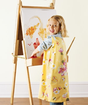 Pillowcase used to create a kid's smock