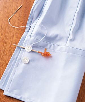 Toothpick used to sew buttons
