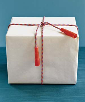 Creative gift wrapping ideas real simple gift with a jump row bow negle Image collections
