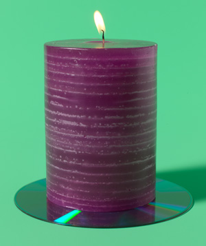 CD as Candle Plate