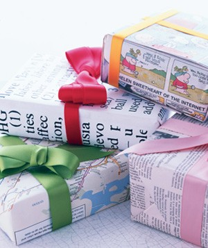 Dictionary entry used as gift wrapping