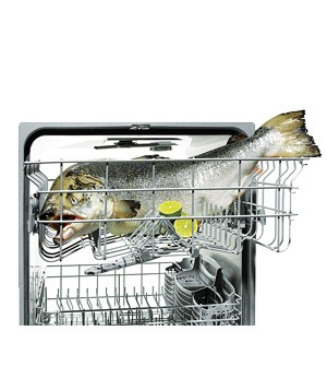 Dishwasher used to cook salmon