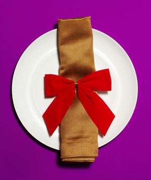 Tree Bow Ornament as Napkin Ring