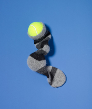 Tennis Ball as Neck Massager