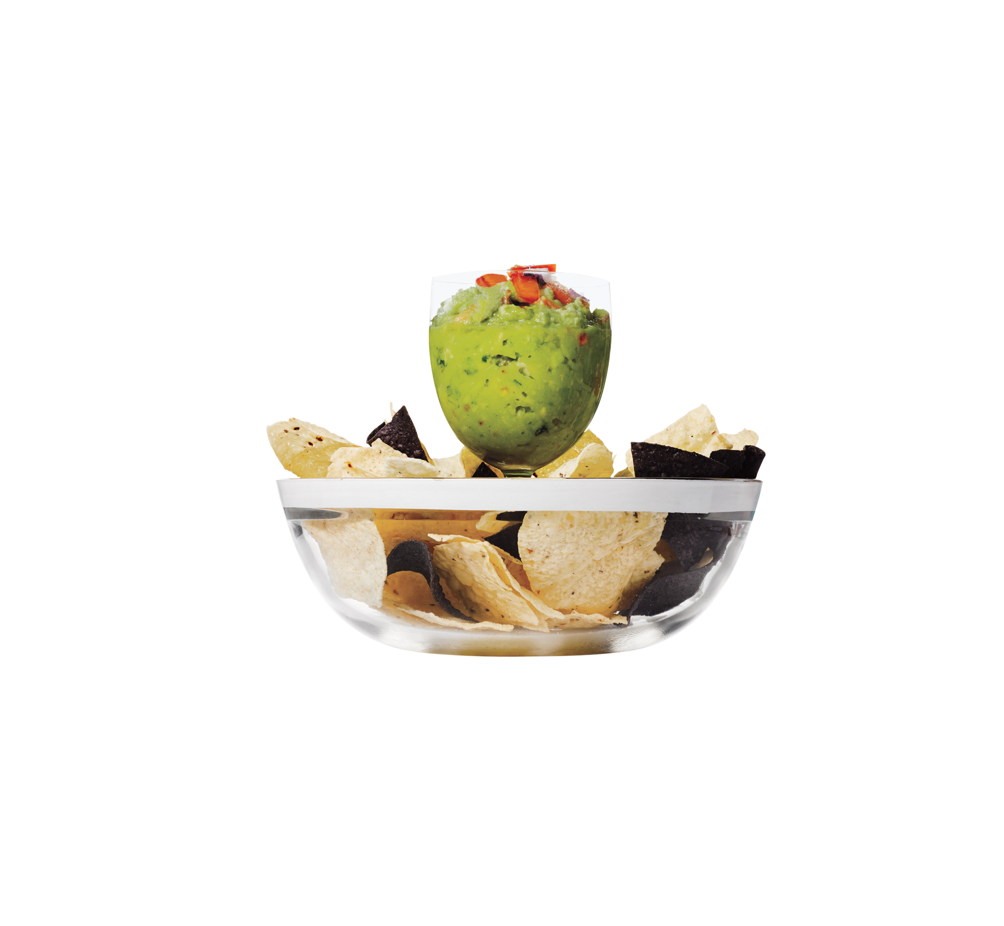 Wineglass as Guacamole holder