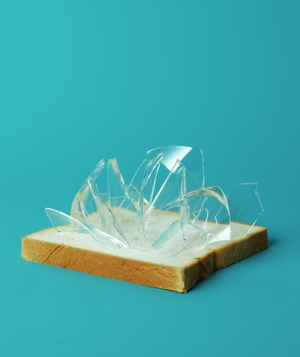 White Bread as Glass Magnet