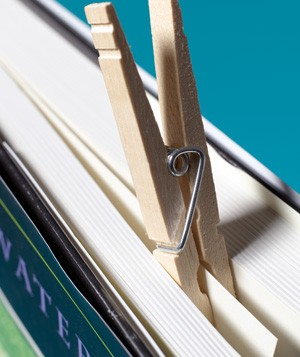 Clothespin as Bookmark