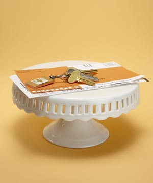 Cake Stand as Counter Organizer