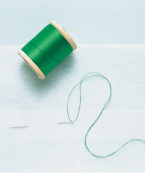Dryer Sheet as Thread Detangler
